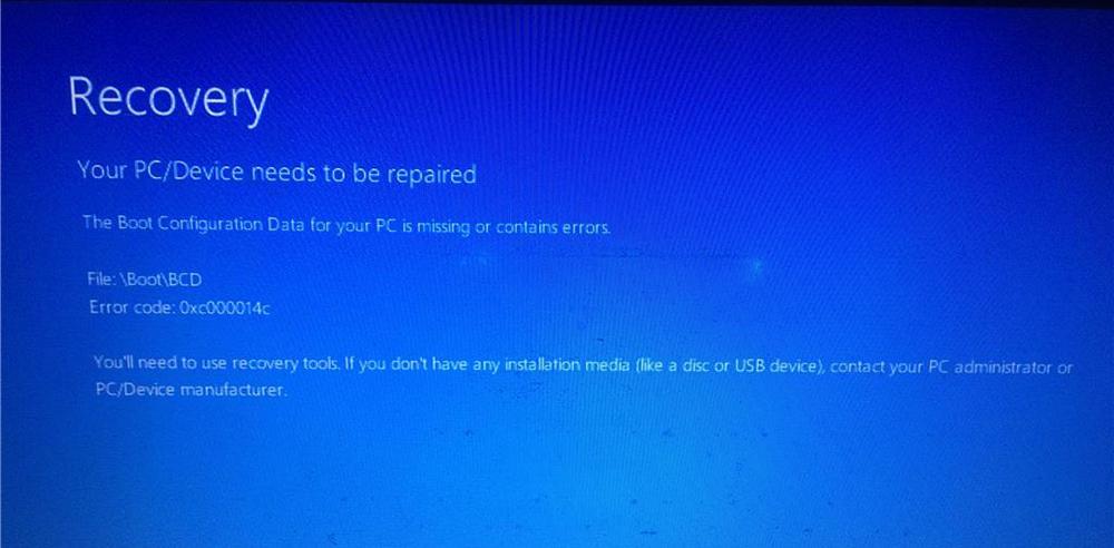 Ошибка 0xc000014c в Windows
