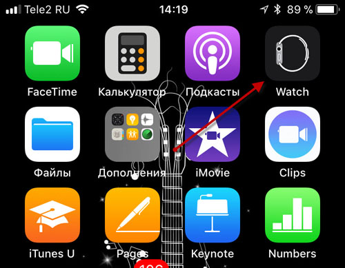 Приложение watch на iPhone