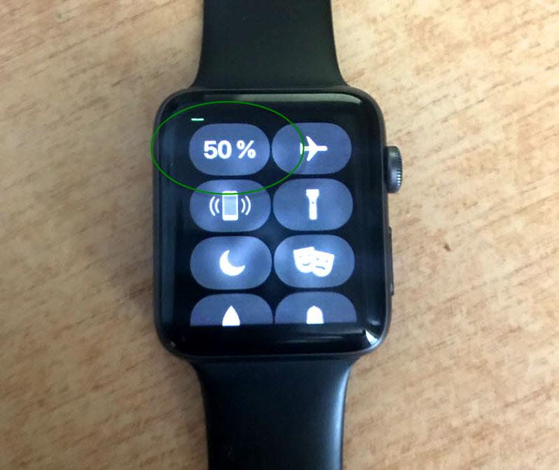 Заряд в процентах Apple watch