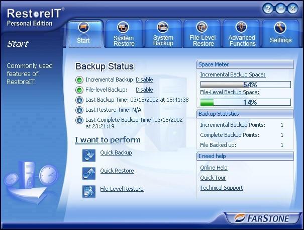 FarStone RestoreIT Pro