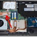 Местоположение процессора в ноутбуке