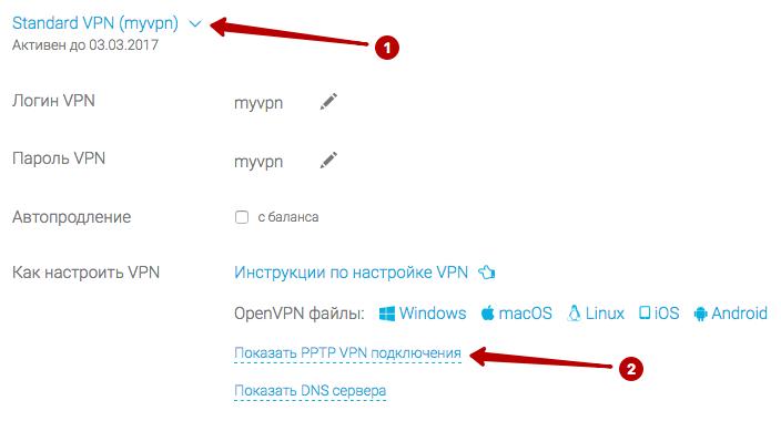 Список серверов PPTP, логин и пароль VPN в Windows 8