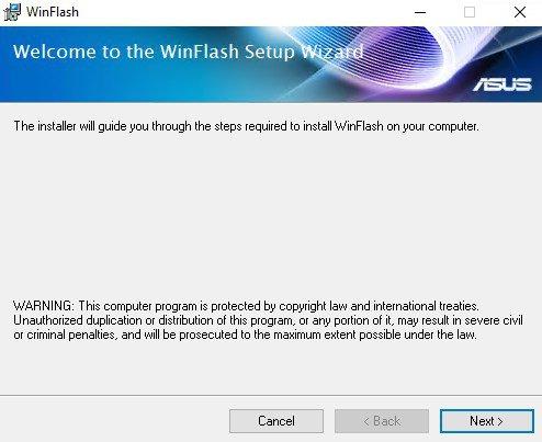Установка Asus WinFlash
