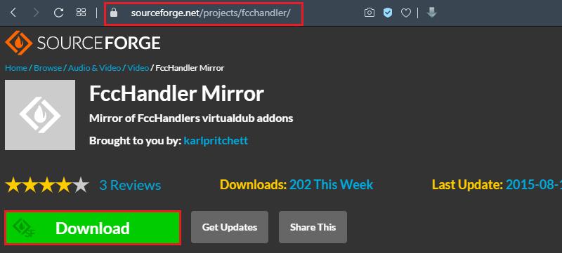 Плагин FccHandler Mirror для VirtualDub