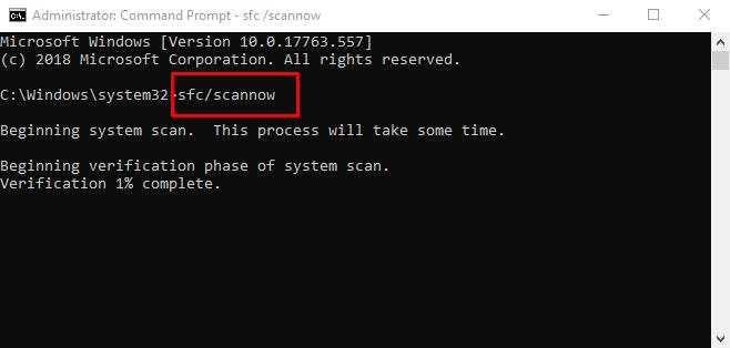 Выполнить команду сканирования
