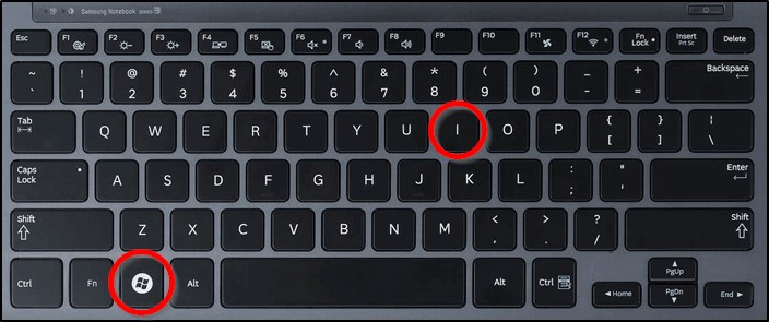 Комбинация клавиш Win + I