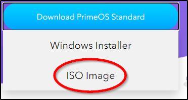 Загрузка PrimeOS в виде ISO образа