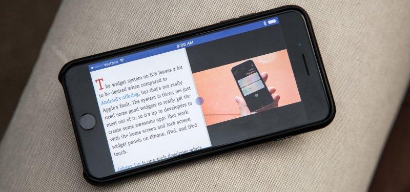 Разделение экрана iOS-устройства