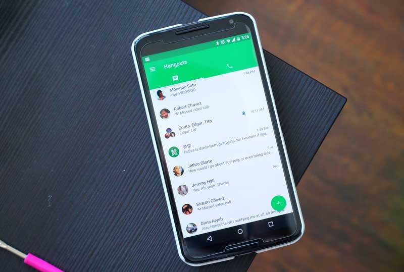 Окно Hangouts на Android