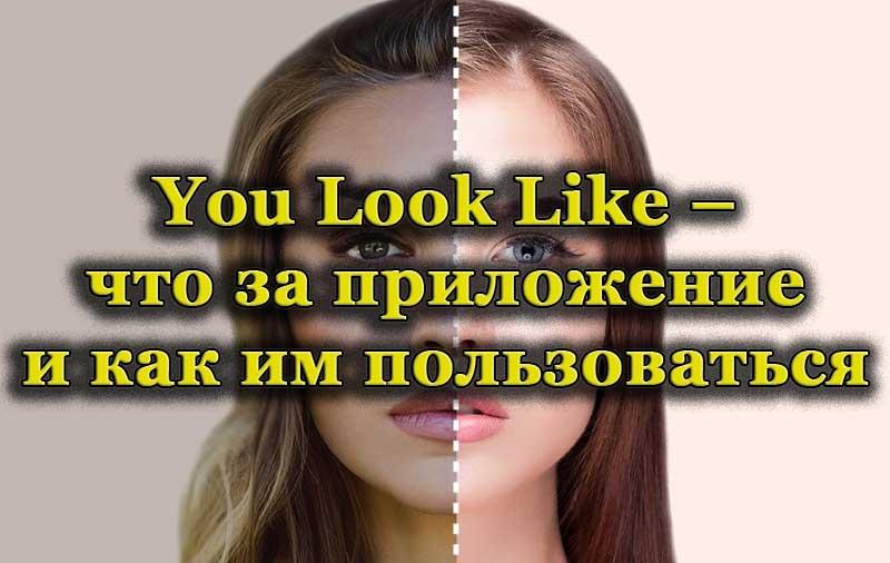 Изменение внешности в приложении You Look Like