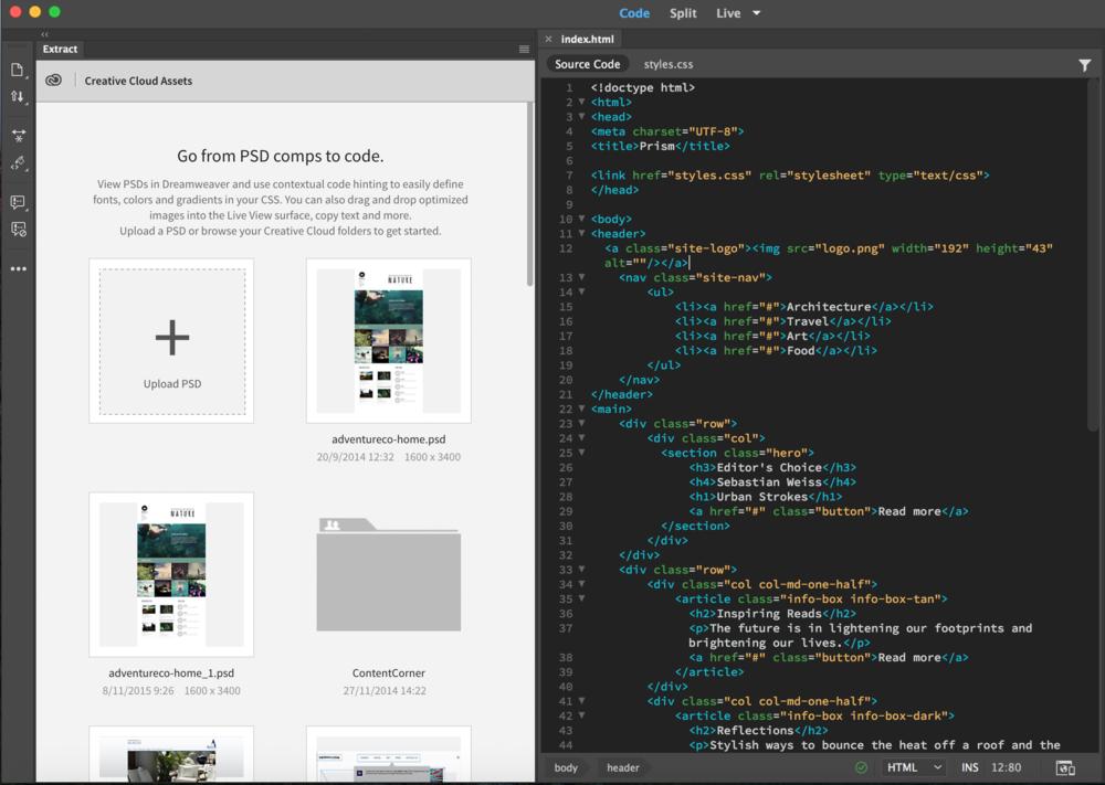 Adobe Dreamweaver программа
