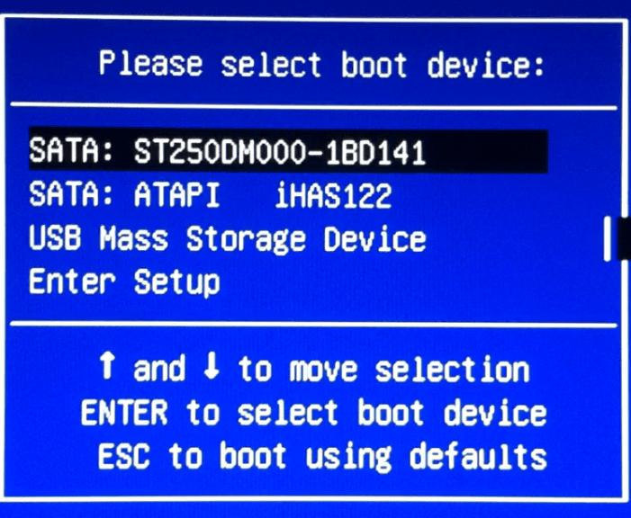Boot Menu Диагностика