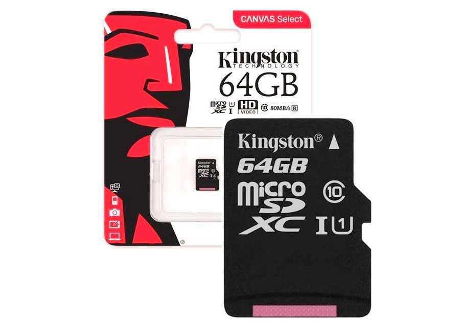 Canvas Select 64 Gb от Kingston