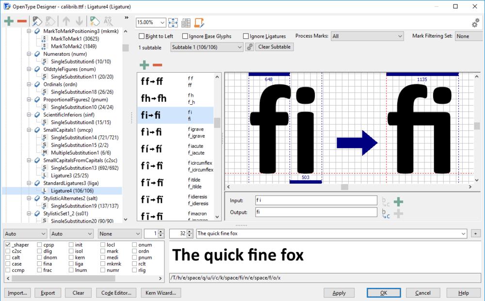 Cheap Font Generation