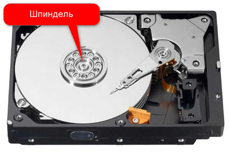 Шпиндель на жёстком диске