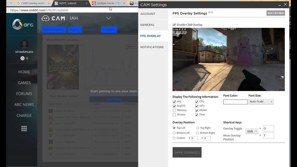 Программа для игр CAM FPS