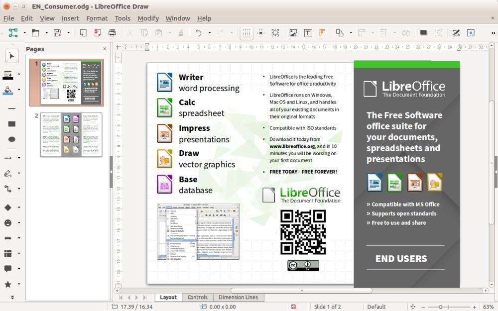 Программа LibreOffice Draw
