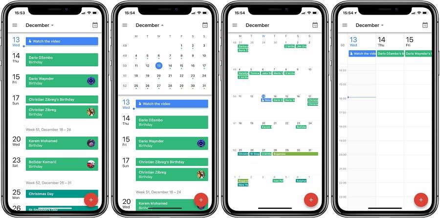 Calendar на iPhone