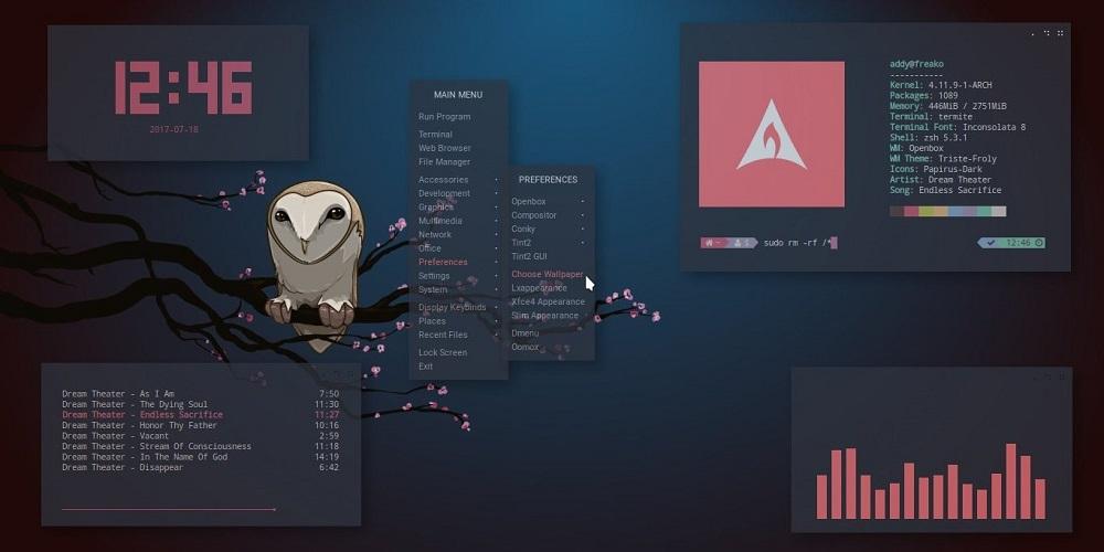 Настраиваемый интерфейс в Linux