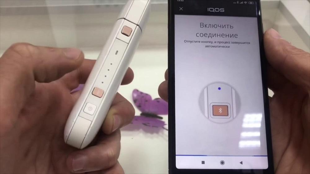 Подключение IQOS к смартфону