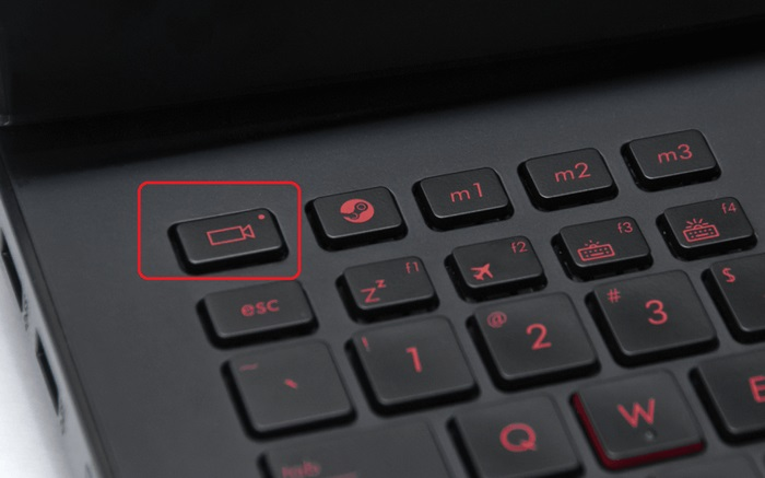 Включение камеры на ноутбуке