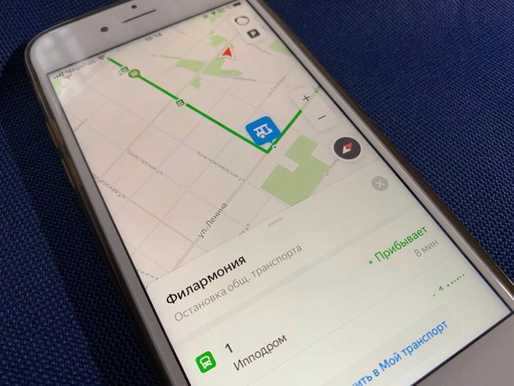 Яндекс.Карты на смартфоне