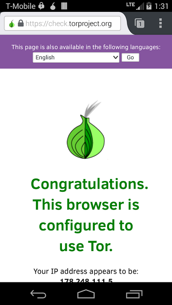 Tor на Android