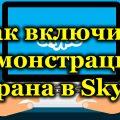 Как включить демонстрацию экрана в Skype