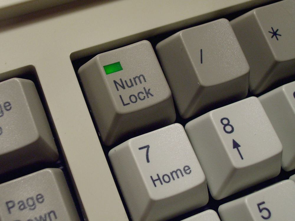 NUM LOCK BUTTON ON THE KEYBOARD – USE AND SETTING