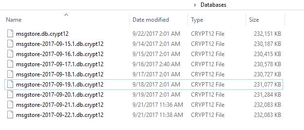 Каталог Databases