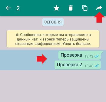 Как переслать сообщение