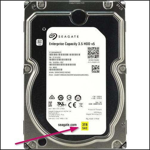 HDD вместимостью в 3 терабайта
