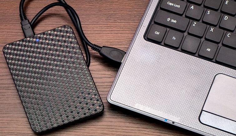 Использование внешнего жёсткого диска с ноутбуком