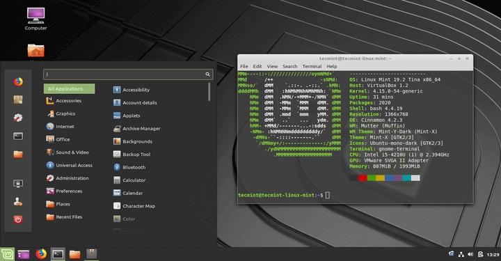 Linux Mint на компьютере