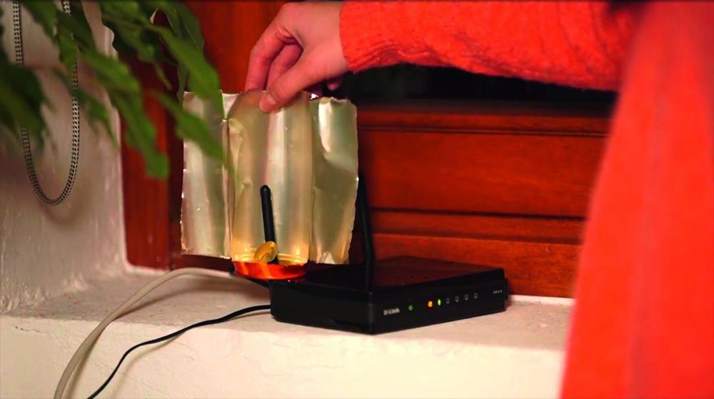 Самодельная конструкция для направления волн Wi-Fi