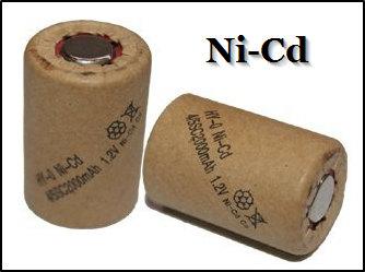 Как выглядит Ni-Cd тип аккумулятора