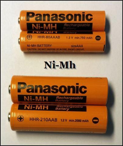 Как выглядит Ni-Mh тип аккумулятора