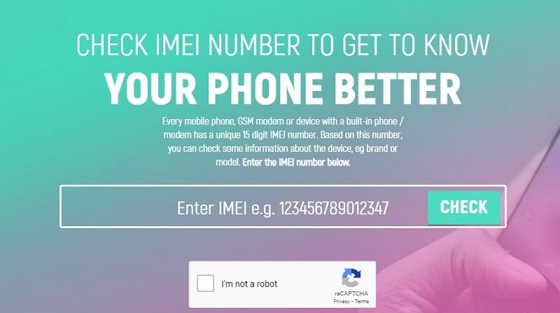 Проверка IMEI на сайте