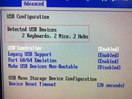 Настройка USB Controller