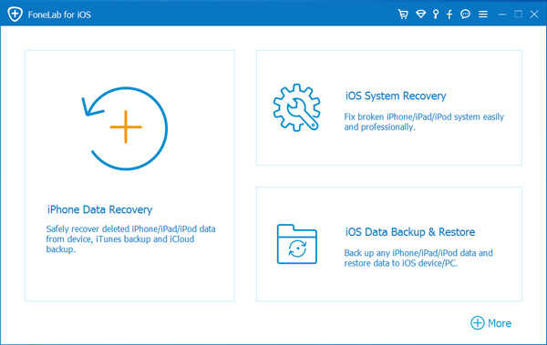 Главное меню FoneLab Data Recover