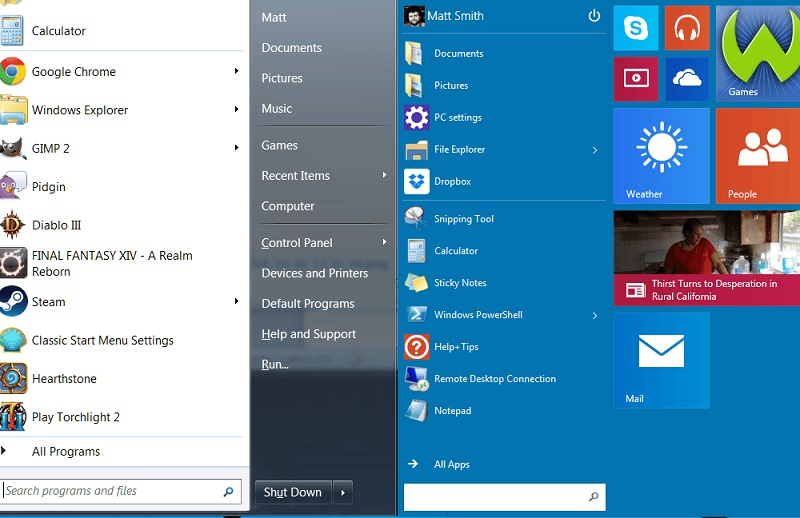 Системы Windows 7 и Windows 10