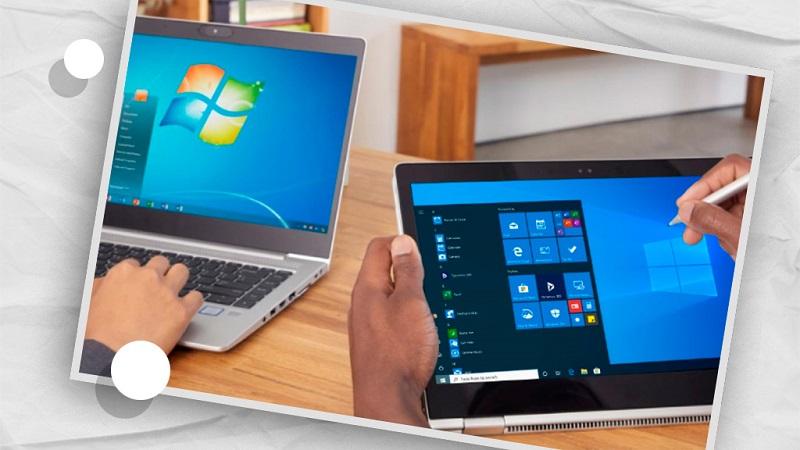 Компьютеры с Windows 7 и Windows 10