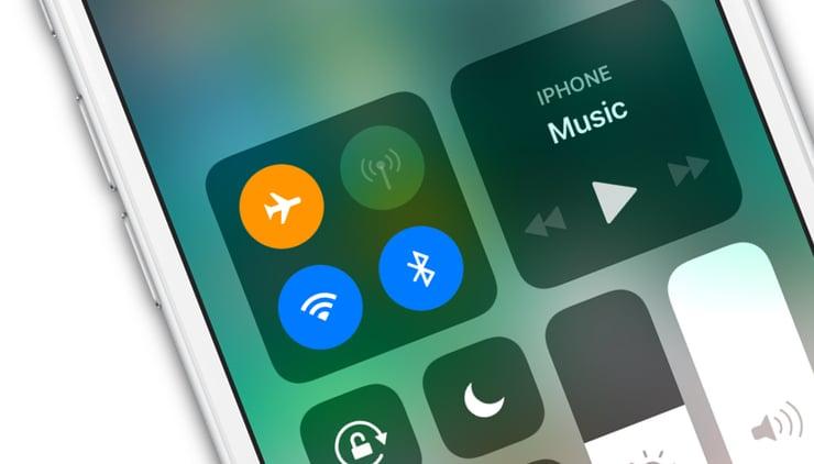 Авиарежим на iPhone