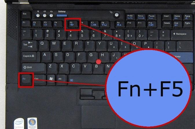 Включение Wi-Fi с помощью клавиш