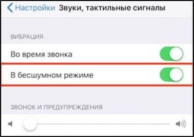 """Активация функции """"В бесшумном режиме"""" в iPhone"""