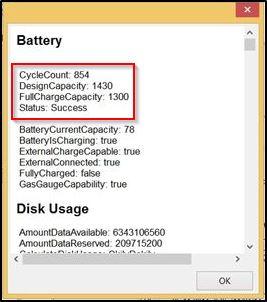 Характеристики батареи в программе iBackupBot