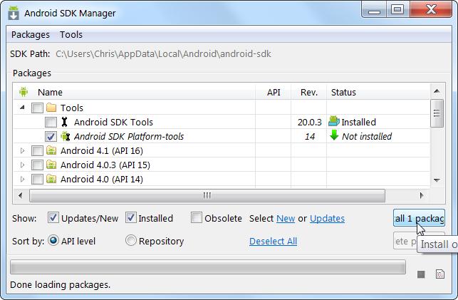 Использование Android Debug Bridge