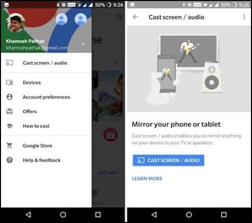 Использование Chromecast на Android