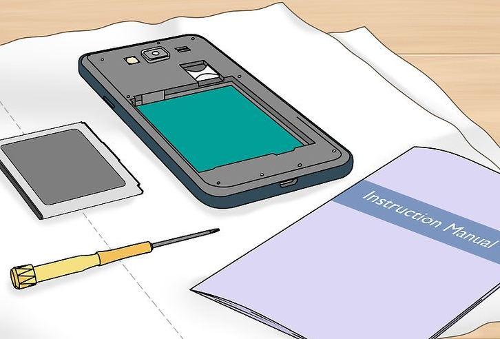 Извлечение батареи из телефона