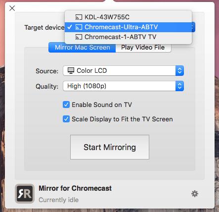 Настройка Chromecast для Mac